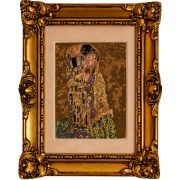 Gustav Klimt The Kiss, petit point luxury embroidery
