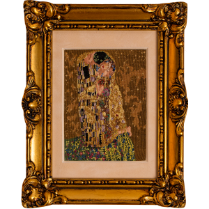Gustav Klimt The Kiss, petit point luxury embroidery