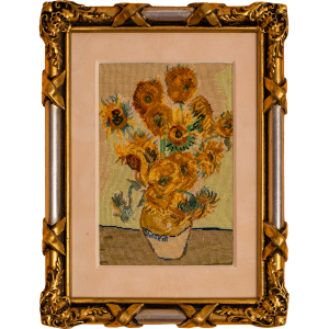 Vincent van Gogh Sunflowers, petit point luxury embroidery
